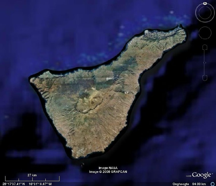 Tenerife Google Earth 94 km
